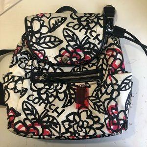 COACH poppy grafiti backpack